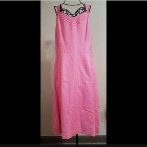 Talbots Linen Blend Dress Sleeveless Pink NWT